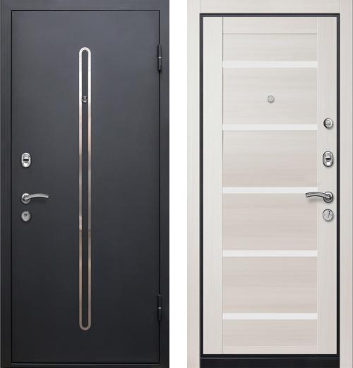 входные двери (стальные двери, металлические двери) DOORS007: дверь Ле-Гран БАЗА 57 «КЁЛЬН-1» 7X Эш Вайт, белое стекло