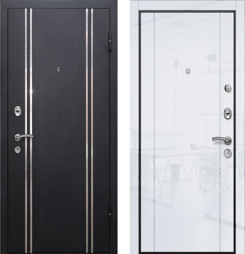 входные двери (стальные двери, металлические двери) DOORS007: дверь Ле-Гран БАЗА 57 «МЮНХЕН-2» 20L Белый глянец