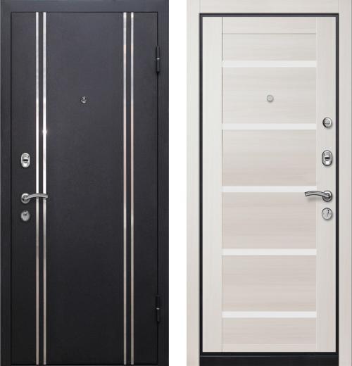 входные двери (стальные двери, металлические двери) DOORS007: дверь Ле-Гран БАЗА 57 «МЮНХЕН-1» 7X Эш Вайт, белое стекло