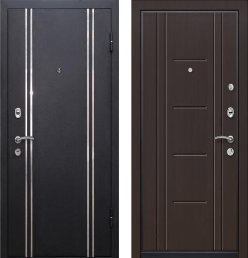 входные двери (стальные двери, металлические двери) DOORS007: дверь Ле-Гран БАЗА 57 «МЮНХЕН» Венге