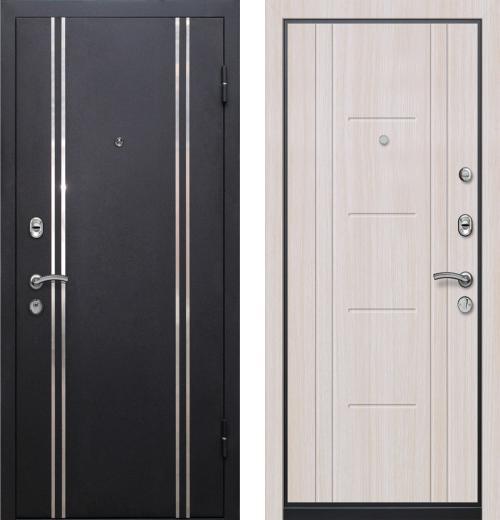 входные двери (стальные двери, металлические двери) DOORS007: дверь Ле-Гран БАЗА 57 «МЮНХЕН» Беленый дуб