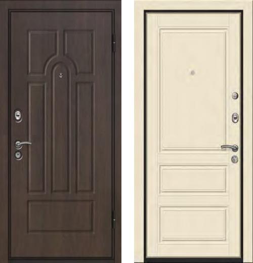 входные двери (стальные двери, металлические двери) DOORS007: дверь Ле-Гран БАЗА 42 «Волкодав» Арка