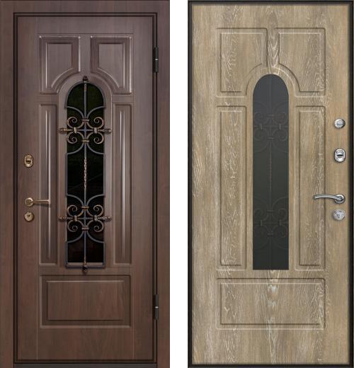 входные двери (стальные двери, металлические двери) DOORS007: дверь Ле-Гран БАЗА 44 «Волкодав» Арка с Терморазрывом