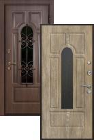Стальная дверь Ле-Гран БАЗА 44 «Волкодав» Арка с Терморазрывом (входная металлическая дверь)