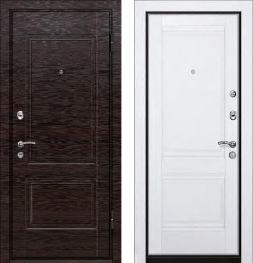 входные двери (стальные двери, металлические двери) DOORS007: дверь Ле-Гран БАЗА 42 «Волкодав» ST-12 ЭкоВенге / Профильдорс U-1 Аляска