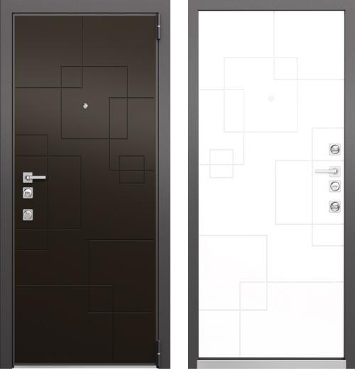 входные двери (стальные двери, металлические двери) DOORS007: дверь Mastino FORTE Молочный Шоколад  MS-113 / Милк Матовый MS-113