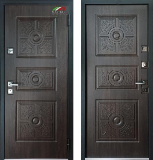 входные двери (стальные двери, металлические двери) DOORS007: дверь Mastino Trento