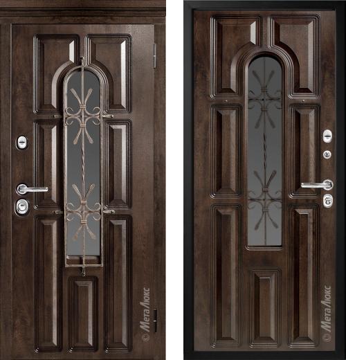 входные двери (стальные двери, металлические двери) DOORS007: дверь Металюкс Элит CM60 с капителью