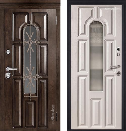 входные двери (стальные двери, металлические двери) DOORS007: дверь Металюкс Элит CM60/1