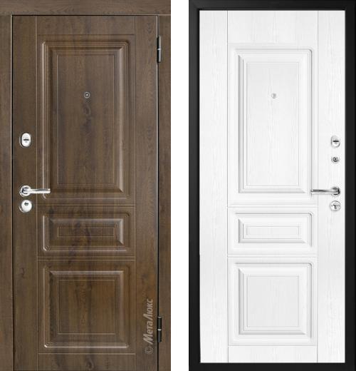 входные двери (стальные двери, металлические двери) DOORS007: дверь Металюкс Триумф М49