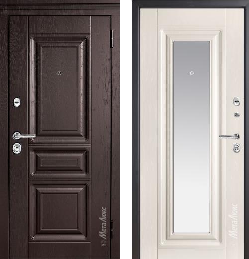входные двери (стальные двери, металлические двери) DOORS007: дверь Металюкс Элит М601 Z с зеркалом