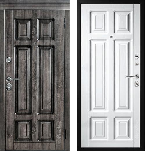 входные двери (стальные двери, металлические двери) DOORS007: дверь Металюкс Статус М706/3