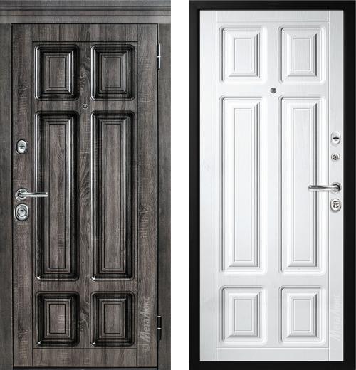 входные двери (стальные двери, металлические двери) DOORS007: дверь Металюкс Статус М706/3 с капителью