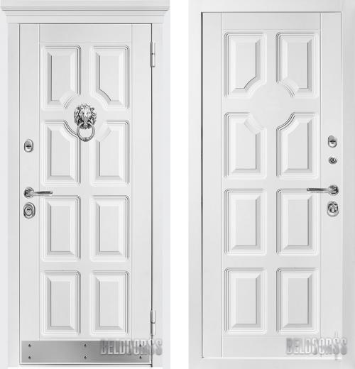 входные двери (стальные двери, металлические двери) DOORS007: дверь Металюкс Статус М707