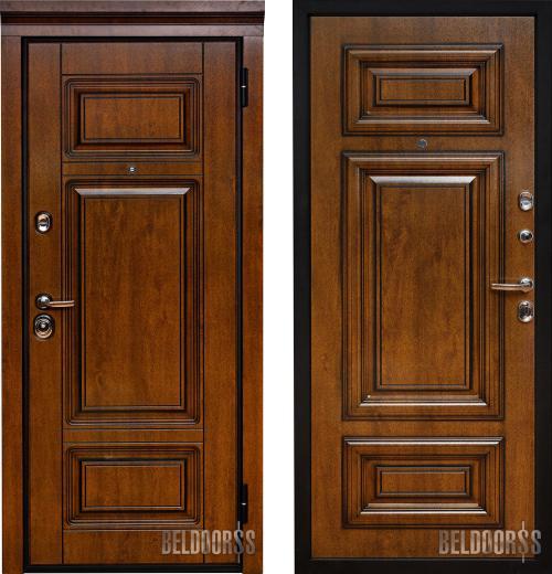 входные двери (стальные двери, металлические двери) DOORS007: дверь Металюкс Статус М708 с патиной