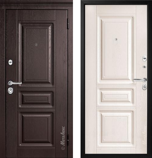 входные двери (стальные двери, металлические двери) DOORS007: дверь Металюкс Статус М709 с капителью