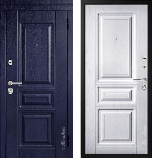 входные двери (стальные двери, металлические двери) DOORS007: дверь Металюкс Статус М709/1 с капителью