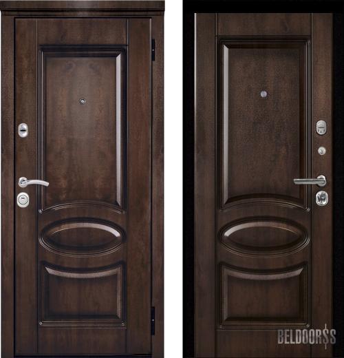 входные двери (стальные двери, металлические двери) DOORS007: дверь Металюкс Элит M71 с капителью