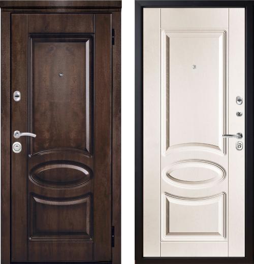 входные двери (стальные двери, металлические двери) DOORS007: дверь Металюкс Элит M71/7 с капителью