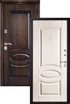 Стальная дверь Металюкс Элит M71/7 с капителью (входная металлическая дверь)