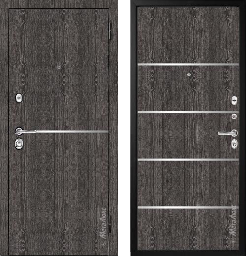 входные двери (стальные двери, металлические двери) DOORS007: дверь Металюкс Элит M74