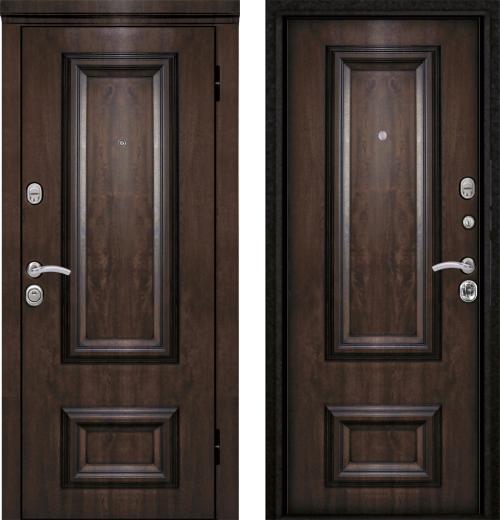 входные двери (стальные двери, металлические двери) DOORS007: дверь Металюкс Элит M75/1