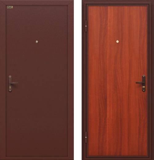 входные двери (стальные двери, металлические двери) DOORS007: дверь Оптим Инсайд Эконом М-11 с внутренним открыванием
