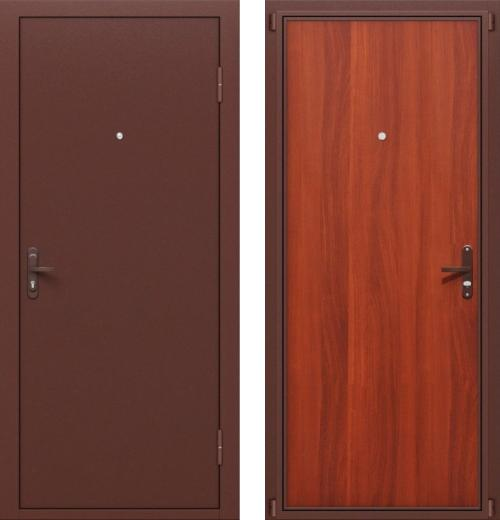 входные двери (стальные двери, металлические двери) DOORS007: дверь Оптим Стройгост РФ Л-11 ИталОрех