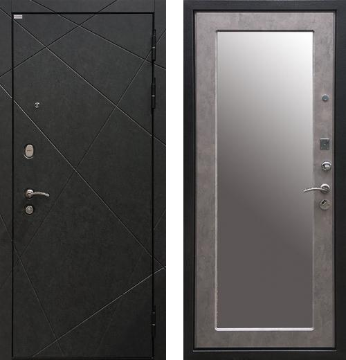 входные двери (стальные двери, металлические двери) DOORS007: дверь Ратибор Эстет 3К Зеркало