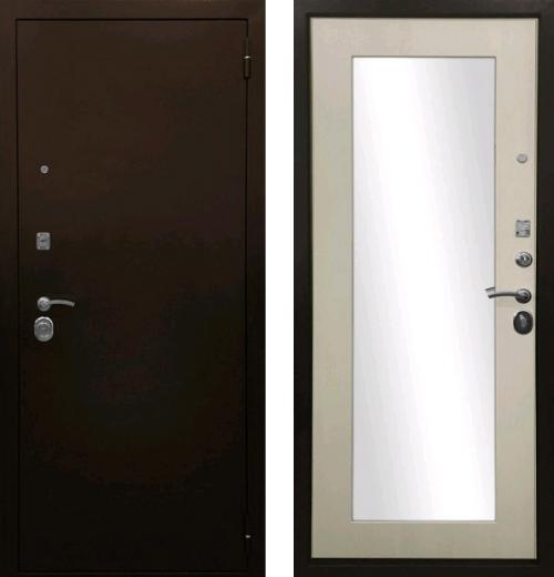 входные двери (стальные двери, металлические двери) DOORS007: дверь Ратибор Оптима 3К с зеркалом