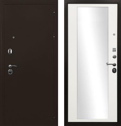 входные двери (стальные двери, металлические двери) DOORS007: дверь Ратибор Троя 3К Зеркало
