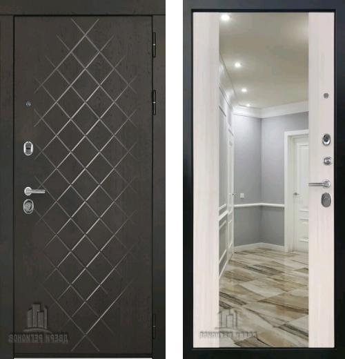 входные двери (стальные двери, металлические двери) DOORS007: дверь Regidoors Президент ЛЮКС ЗЕРКАЛО