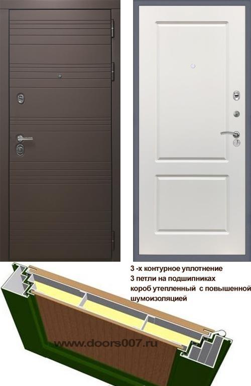 входные двери (стальные двери, металлические двери) DOORS007: дверь Rex 14 Шоколад ФЛ-117, Цвет