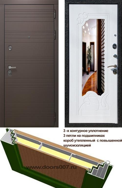 входные двери (стальные двери, металлические двери) DOORS007: дверь Rex 14 Шоколад ФЛЗ-147