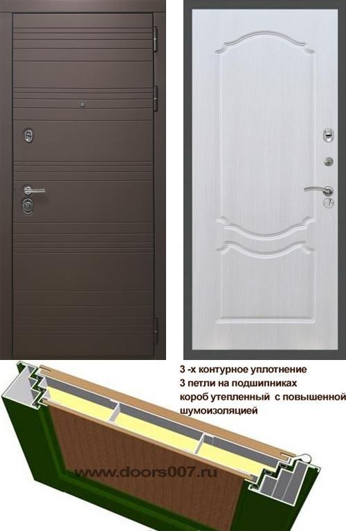 входные двери (стальные двери, металлические двери) DOORS007: дверь Rex 14 Шоколад ФЛ-130, Цвет