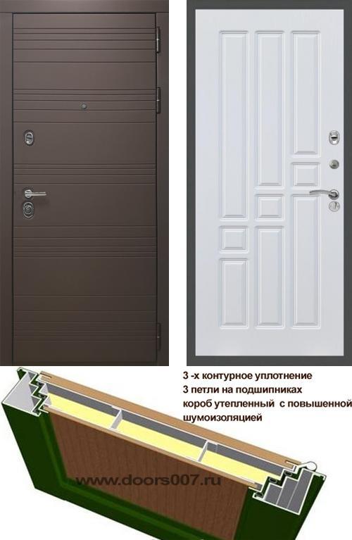входные двери (стальные двери, металлические двери) DOORS007: дверь Rex 14 Шоколад ФЛ-31, Цвет