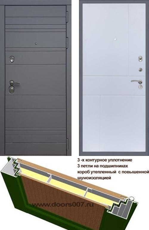 входные двери (стальные двери, металлические двери) DOORS007: дверь Rex 14 Титан ФЛ-290, Цвет