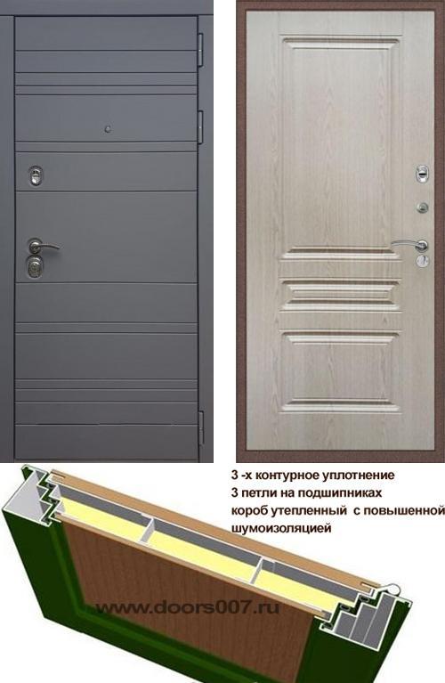 входные двери (стальные двери, металлические двери) DOORS007: дверь Rex 14 Титан ФЛ-243
