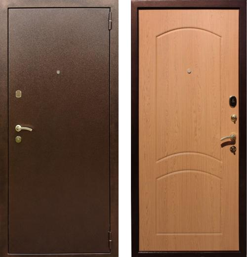 входные двери (стальные двери, металлические двери) DOORS007: дверь Rex 1А Латунь, Цвет