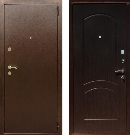 входные двери (стальные двери, металлические двери) DOORS007: дверь Rex 1А Хром, Цвет