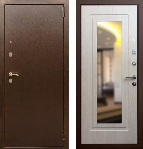 входные двери (стальные двери, металлические двери) DOORS007: дверь Rex 1А с зеркалом, Цвет