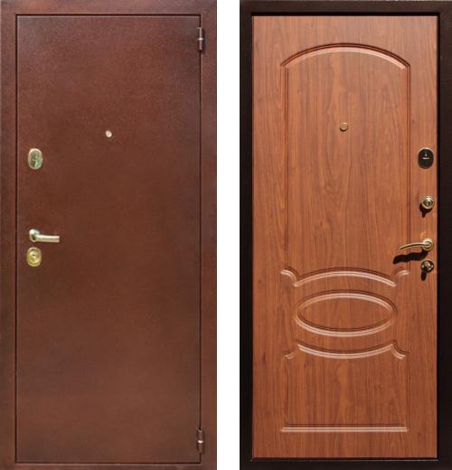 входные двери (стальные двери, металлические двери) DOORS007: дверь Rex 2 Латунь, Цвет