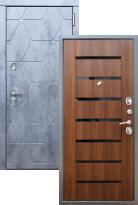 Стальная дверь Rex 28 СБ-14 Черное стекло