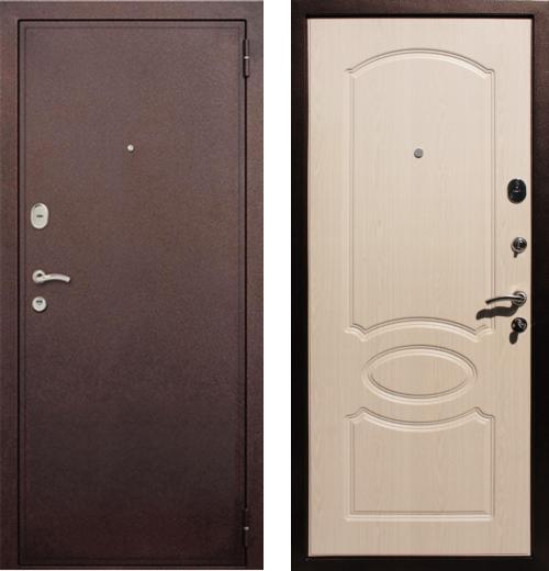 входные двери (стальные двери, металлические двери) DOORS007: дверь Rex 2 Хром, Цвет