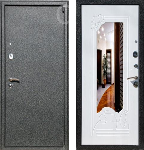 входные двери (стальные двери, металлические двери) DOORS007: дверь Rex 3 с зеркалом
