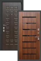 Стальная дверь Rex 4А СБ-14 Черное стекло