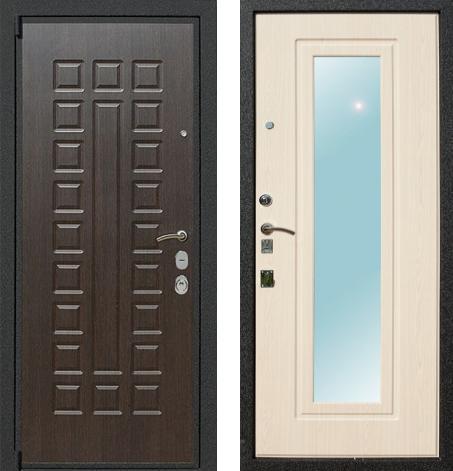 входные двери (стальные двери, металлические двери) DOORS007: дверь Rex 4A с зеркалом, Цвет