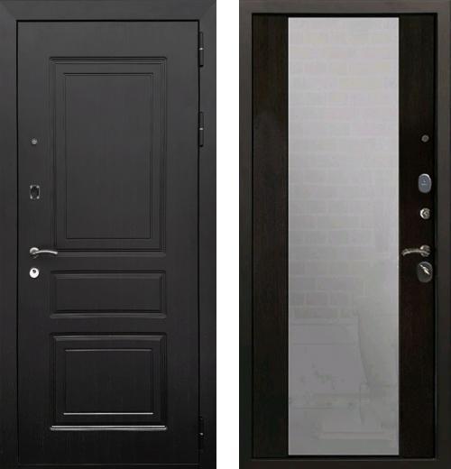 входные двери (стальные двери, металлические двери) DOORS007: дверь Rex 6 с зеркалом