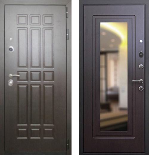 входные двери (стальные двери, металлические двери) DOORS007: дверь Rex 8 с зеркалом, Цвет