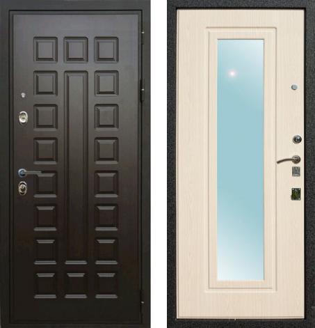 входные двери (стальные двери, металлические двери) DOORS007: дверь Rex Гладиатор с зеркалом